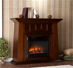Lowery Electric Fireplace in Espresso - Southern Enterprises FE9668