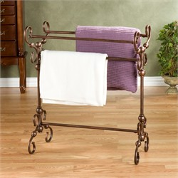 Lourdes Blanket Rack - Southern Enterprises HZ4886R