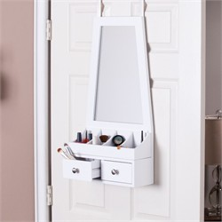 Larissa Over-the-Door Mirror/Accessory Organizer - Southern Enterprises HZ6409