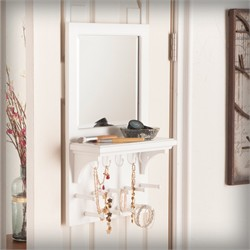 Tessa Over-the Door Jewelry Mirror/Anywhere Storage - Southern Enterprises JS7016