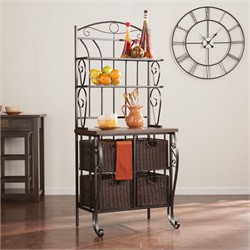 Bakers Rack w/ Storage Baskets - Southern Enterprises KA1885