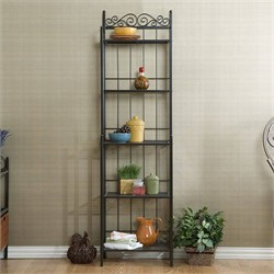 Celtic Bakers Rack in Gunmetal Gray - Southern Enterprises KA9801