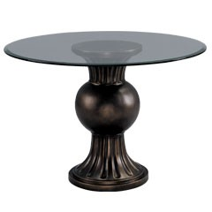Ball Vase Table Base with Glass Top in Bronze Finish (Shipping Included) - Sterling Industries 5001000