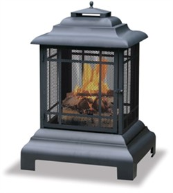 Large Black Belmont Firehouse Fire Pit UniFlame WAF501CS