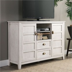 "Angelo Home 52"" Rustic Chic TV Console in White Wash - Walker Edison AH52CRCWW"