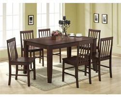 7-piece Solid Wood Espresso Dining Set - Walker Edison C60S2ES