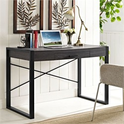"Angelo Home 48"" Computer Desk in Charcoal - Walker Edison D48CG30CL"