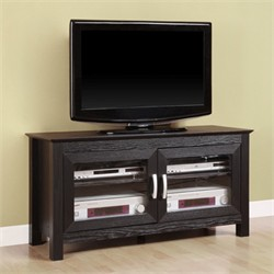 44 Inch Columbus Wood TV Console in Black Finish Walker Edison W44CFDBL