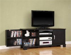 60 Inch Jamestown Wood TV Console in Black Finish Walker Edison W60C73BL