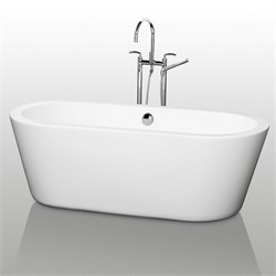 "Wyndham WCOBT100367 Mermaid 67"" Soaking Bathtub"