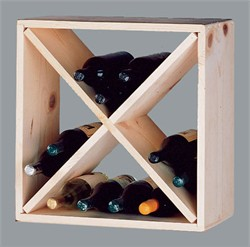 Country Pine Cube Wine Rack - Bottle Wine Rack - Wine Cellar Accessories- CUBE