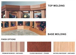 Curved Molding Package for Premium Redwood Wine Rack - DRCRVMOLD