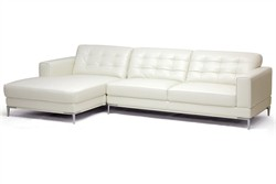 Babbitt Ivory Leather Modern Sectional Sofa 1365-sectional-LFC-DU8143
