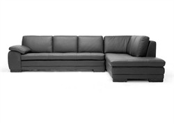 Baxton Studio Black Sofa/Chaise Sectional 625-M9812-Sofa