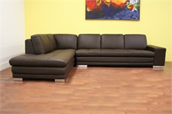 Baxton Studio Callidora Dark Brown Leather-Leather Match Sofa Sectional Reverse 766-sofa/lying-M9805-Reverse
