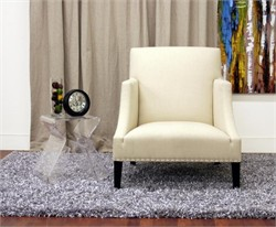 Baxton Studio Heddery Cream Fabric Modern Club Chair A-731-C-232