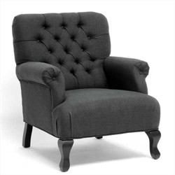 Baxton Studio Joussard Gray Linen Club Chair BH-201214-Grey-AC