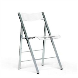 Baxton Studio Acrylic Foldable Chair FAY-506-Clear