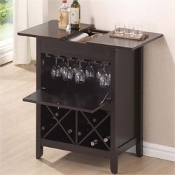 Baxton Studio Tuscany Brown Modern Dry Bar and Wine Cabinet RT194-OCC
