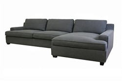 Baxton Studio TD0905 (AD066-3) Sofa+chaise - Baxton Studio Kaspar Slate Gray Fabric Modern Sectional Sofa