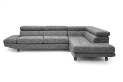Baxton Studio TD1909-sectional-(RFC)-(07026-6A) - Adelaide Gray Twill Fabric Modern Sectional Sofa