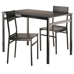 Milton 3-Pc Set Dining Table w/ Chairs - Winsome Wood 20343