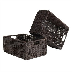 Granville Medium Foldable Baskets (Set of 2) - Winsome Wood 38207