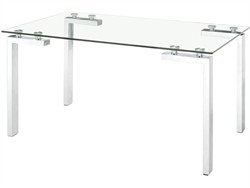 Roca Dining Table Stainless Steel- Zuo 102142
