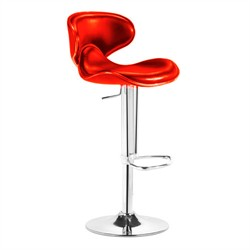 Fly Barstool in Red Finish Zuo Modern 300132 (Shipping Included)