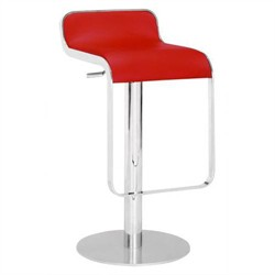 Equino Barstool in Red Finish Zuo Modern 301112 (Shipping Included)