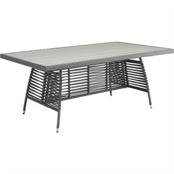 Sandbanks Dining Table Grey - Zuo Modern 703533 (Shipping Included)