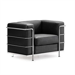 Fortress Arm Chair in Black Finish Zuo Modern 900220 (Shipping Included)