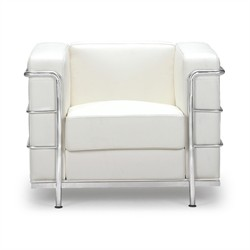 Fortress Arm Chair in White Finish Zuo Modern 900221 (Shipping Included)