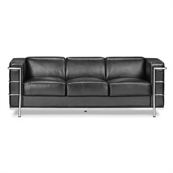 Fortress Sofa in Black Finish Zuo Modern 900230 (Shipping Included)