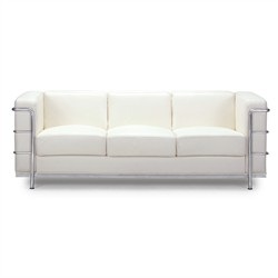 Fortress Sofa in White Finish Zuo Modern 900231 (Shipping Included)