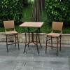 "International Caravan Barcelona 32"""" Patio Pub Table in Honey Pecan"