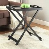 Folding Tray Table in Black Finish - Convenience Concepts 239900BL