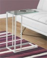 Accent Table - White Metal w/ Mirror Top - Monarch Specialty I-3086