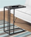 Accent Table - Black Metal / Black Tempered Glass - Monarch Specialty I-3087