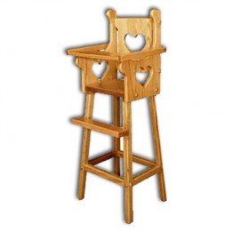 Doll Highchair w/heart