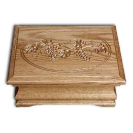 Jewelry Box-Medium,oak-Grapes lid