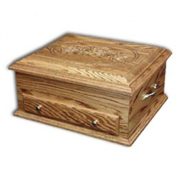 Jewelry Chest Deluxe,Oak  Rose lid