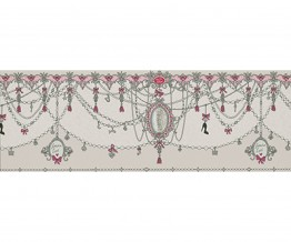 Ornamental Charms Swags Grey 0097-10 Wallpaper Border