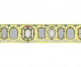 Mirror Frames Yellow 0098-03 Wallpaper Border