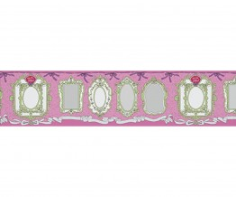 Mirror Frames Pink 0098-17 Wallpaper Border
