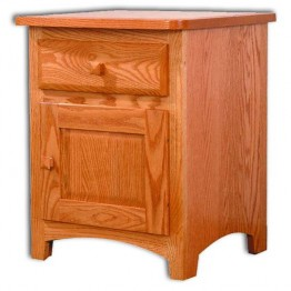 Classic Shaker Nightstand 1 Door - 1 Drawer