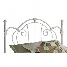 Hillsdale Cherie Spindle Headboard in White-King