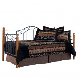 Hillsdale Winsloh Metal and Wood Post Daybed in Oak Finish-without trundle