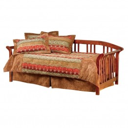 Hillsdale Dorchester Solid Pine Wood Daybed in Brown Cherry Finish-Daybed With Trundle
