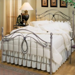Hillsdale Milano Antique Pewter Metal Poster Bed-King